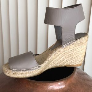 Shoes - Taupe glove leather - Sz 7 espadrilles